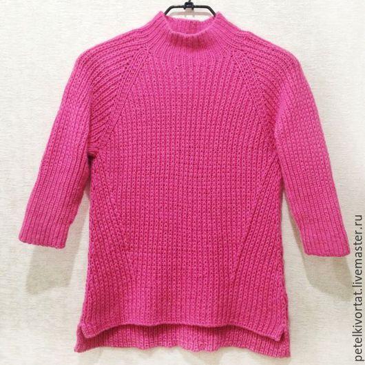 """Кофты и свитера ручной работы. Ярмарка Мастеров - ручная работа. Купить Пуловер """"Фуксия"""". Handmade. Пуловер вязаный, связано на заказ"""