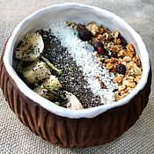 Посуда handmade. Livemaster - original item Coconut Bowl. Coconut Bowl. Ceramic Coconut. Coconut Bowl. Coco nut. Handmade.