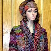 """Одежда ручной работы. Ярмарка Мастеров - ручная работа кардиган - пальто """"Осенние интарсии"""". Handmade."""