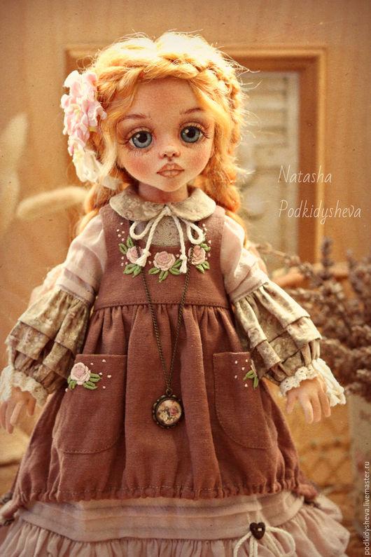 Коллекционные куклы ручной работы. Ярмарка Мастеров - ручная работа. Купить Варенька. Handmade. Коричневый, подкидышева наталья, цветы бумажные