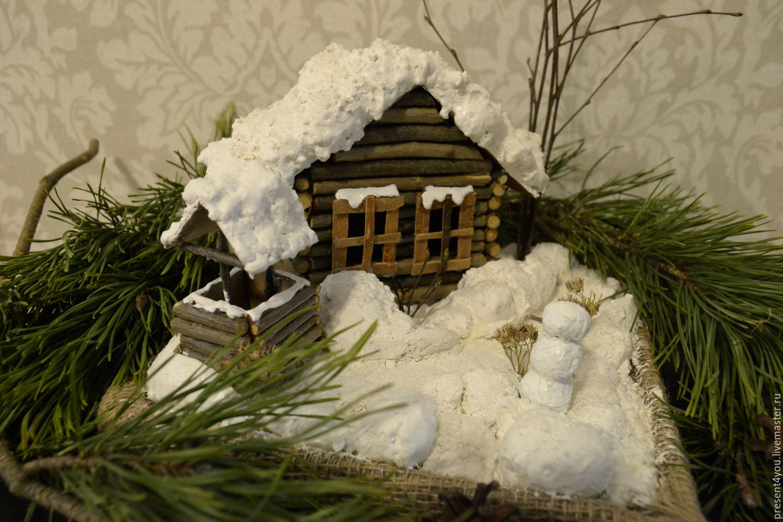 Поделки красивые зимние, окошками