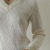 Одежда ручной работы. Ярмарка Мастеров - ручная работа Пуловер Деликатный ажур. Handmade.