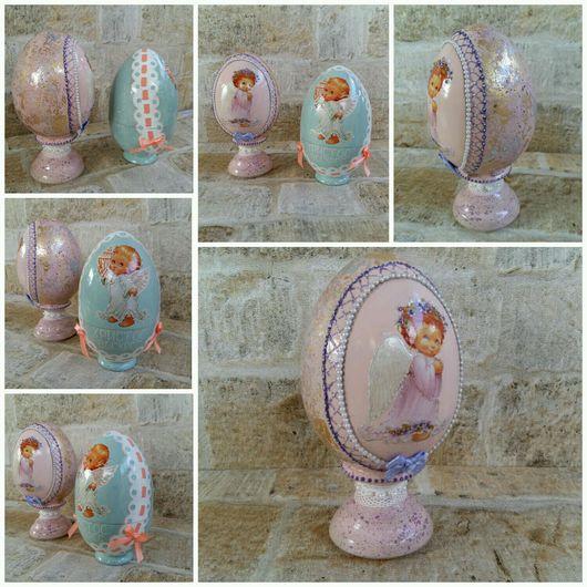 """Подарки на Пасху ручной работы. Ярмарка Мастеров - ручная работа. Купить Яйцо интерьерное  """"Ангелочек"""". Handmade. Яйцо, Пасха"""