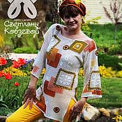"""Одежда ручной работы. Ярмарка Мастеров - ручная работа Туника """"Солнечный пэчворк"""". Handmade."""
