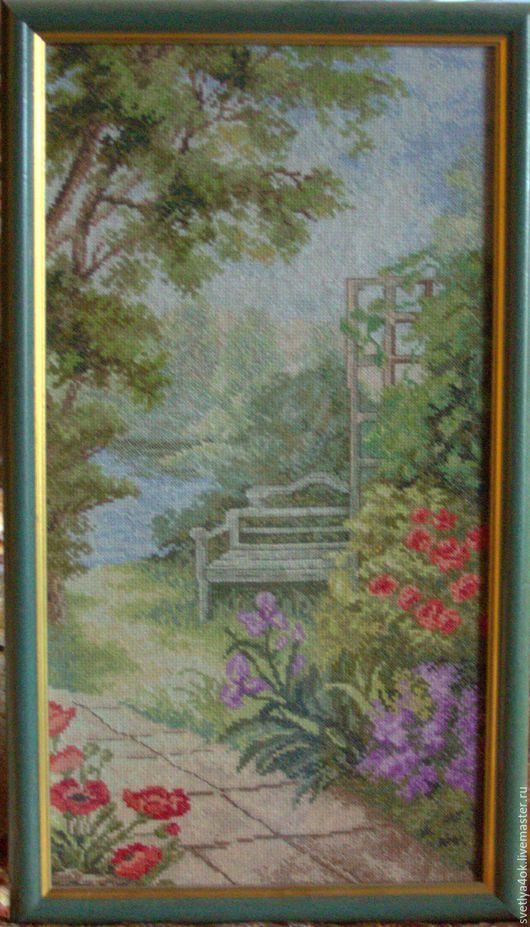 """Пейзаж ручной работы. Ярмарка Мастеров - ручная работа. Купить Картина """"Садовая дорожка"""". Handmade. Комбинированный, пейзаж, сад, романтика"""