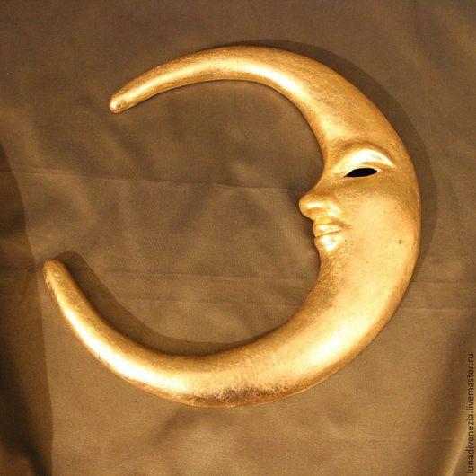 Интерьерные  маски ручной работы. Ярмарка Мастеров - ручная работа. Купить Панно интерьерное Месяц Венецианский. Handmade. Венецианская маска