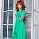 Платья ручной работы. Платье в пол зелёная трава. Dudu-dress. Ярмарка Мастеров. Зеленая трава, шикарное платье