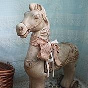"""Куклы и игрушки ручной работы. Ярмарка Мастеров - ручная работа Лошадка каталка """"Country horse"""". Handmade."""