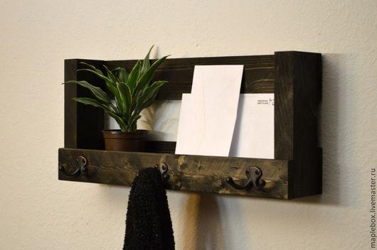 Мебель ручной работы. Ярмарка Мастеров - ручная работа. Купить Настенный органайзер малый. Handmade. Темно-серый, органайзер, подарок