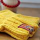 """Носки, гольфы, гетры ручной работы. Ярмарка Мастеров - ручная работа. Купить Носки шерстяные """"Бабушкины"""" желтые. Handmade. Желтый"""