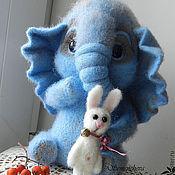 Куклы и игрушки ручной работы. Ярмарка Мастеров - ручная работа Серо-голубой слоненок Даня. Handmade.
