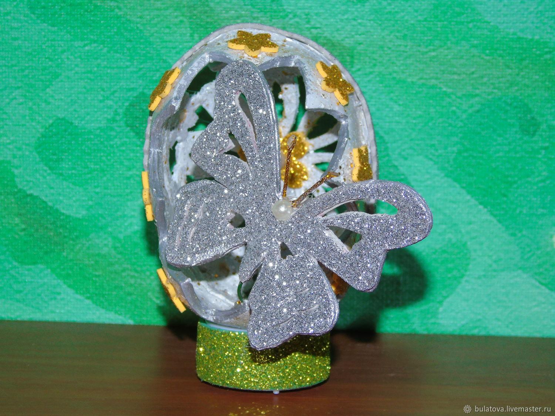 Пасхальное яйцо с бабочкой, Пасхальные сувениры, Собинка,  Фото №1