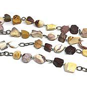 Украшения handmade. Livemaster - original item Decoration boho beads long Watercolor. Natural Jasper Flourite. Handmade.