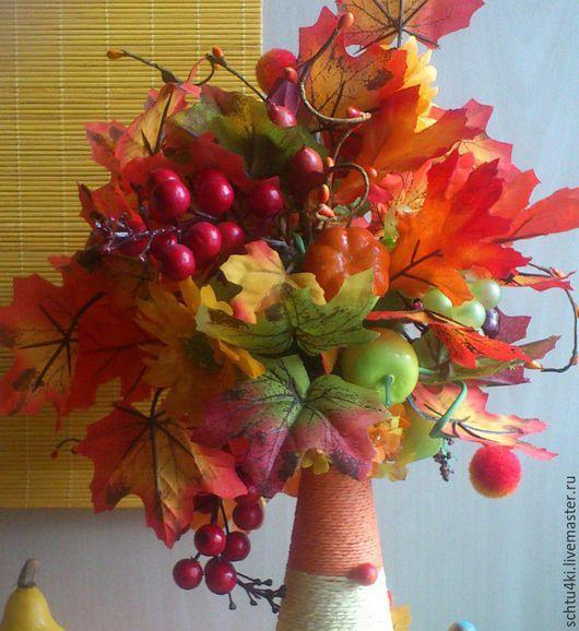 """Топиарии ручной работы. Ярмарка Мастеров - ручная работа. Купить Топиарий """"Осень в разгаре"""". Handmade. Разноцветный, тыква"""