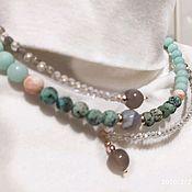 Украшения handmade. Livemaster - original item Choker necklace on memory with Jasper, agate. Every day.. Handmade.