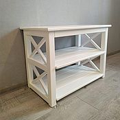 Для дома и интерьера handmade. Livemaster - original item Shoe rack, bench, banquette, bedside table Bergen white. Handmade.