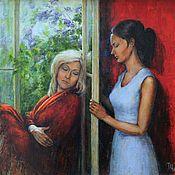 Картины и панно handmade. Livemaster - original item Two women. Oil on canvas. 2019.. Handmade.