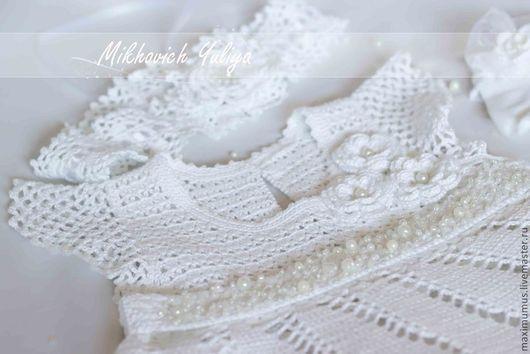 Одежда для девочек, ручной работы. Ярмарка Мастеров - ручная работа. Купить Белоснежно-нежное №2. Handmade. Белый, кружевное платье