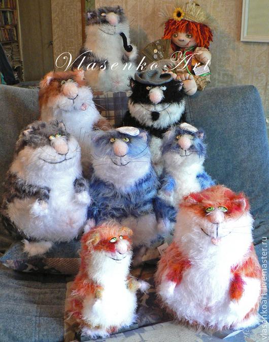 Игрушки животные, ручной работы. Ярмарка Мастеров - ручная работа. Купить Вязаные котики. Handmade. Разноцветный, вязаный кот