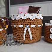Для дома и интерьера ручной работы. Ярмарка Мастеров - ручная работа Интерьерные корзиночки. Handmade.