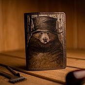 Канцелярские товары handmade. Livemaster - original item Passport cover. Bearish.ODPTSR5. Handmade.