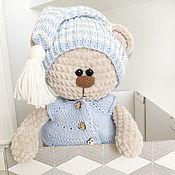 """Мягкие игрушки ручной работы. Ярмарка Мастеров - ручная работа Медвежонок """"Плюшик"""" с подушкой. Handmade."""