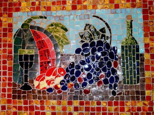 """Декор поверхностей ручной работы. Ярмарка Мастеров - ручная работа. Купить Мозаичное панно""""Натюрморт с арбузом"""". Handmade. Керамика ручной работы"""