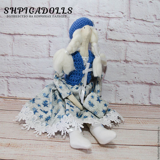 Кукла тильда `Девочка-зима`