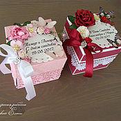 Открытки ручной работы. Ярмарка Мастеров - ручная работа волшебная коробочка для денежного подарка (надпись и цвет любые). Handmade.