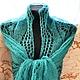 Shawls & Warm Stoles handmade. The Maltese shawl, jade. Shawl Masterpiece. My Livemaster.Beautiful stole