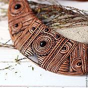 Украшения ручной работы. Ярмарка Мастеров - ручная работа Колье из полимерной глины Этно. Handmade.