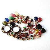 Украшения handmade. Livemaster - original item Earrings with tourmaline. Handmade.