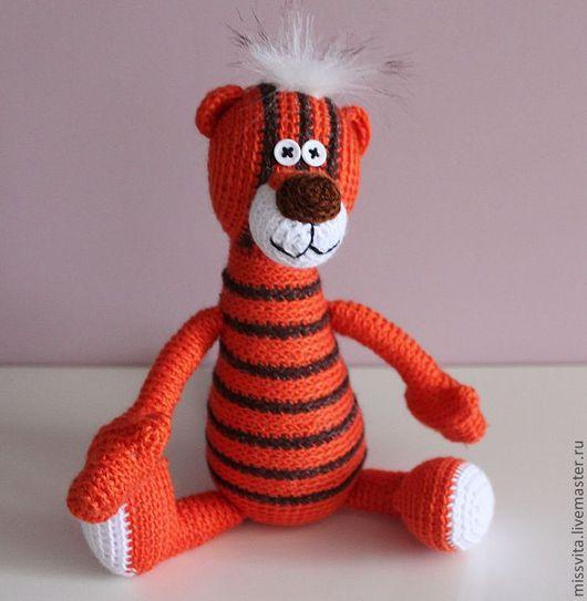 Игрушки животные, ручной работы. Ярмарка Мастеров - ручная работа. Купить Полосатый тигра. Handmade. Рыжий, тигры, игрушка