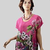 Одежда handmade. Livemaster - original item Copy of SCARLET Poppies  tunic made of natural silk. Handmade.