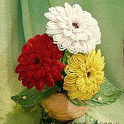 Цветы и флористика ручной работы. Ярмарка Мастеров - ручная работа цветы из бисера. Handmade.