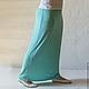 Юбки ручной работы. Ярмарка Мастеров - ручная работа. Купить Юбка Бирюза. Handmade. Юбка, юбка макси, длинная юбка