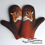 Аксессуары ручной работы. Ярмарка Мастеров - ручная работа Варежки с лисичками. Handmade.
