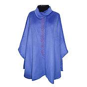 Одежда handmade. Livemaster - original item Cashmere poncho with designer embroidery. Handmade.