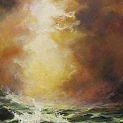 Картины и панно ручной работы. Ярмарка Мастеров - ручная работа Солнечный шторм - картина маслом. Handmade.