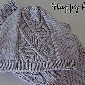 """Аксессуары ручной работы. Ярмарка Мастеров - ручная работа Комплект шарф+шапка """"Silver"""". Handmade."""