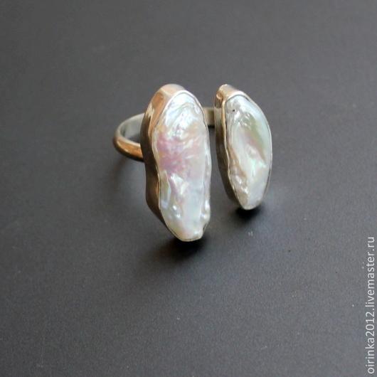 Кольца ручной работы. Ярмарка Мастеров - ручная работа. Купить Кольцо с жемчугом. Handmade. Кольцо с камнем, кольцо серебряное, серебро