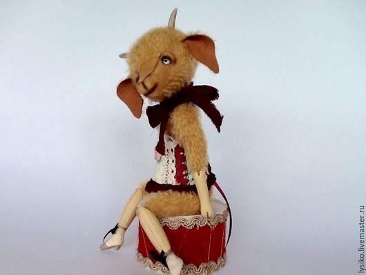Коза танцовщица, друзья мишек тедди, козлик тедди,коза игрушка, авторская игрушка,handmade, авторские игрушки Людмилы Двоенко