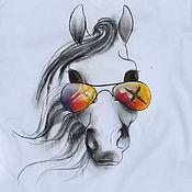 Одежда ручной работы. Ярмарка Мастеров - ручная работа футболка с рисунком по ткани. Handmade.