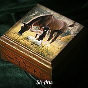 Для дома и интерьера handmade. Livemaster - original item The box with the horse Tenderness. Handmade.