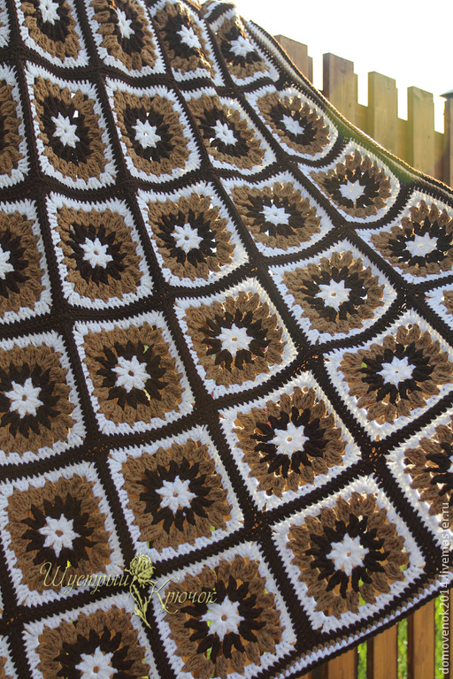 """Текстиль, ковры ручной работы. Ярмарка Мастеров - ручная работа. Купить Плед из шерсти """"Шоколад"""".. Handmade. Плед, плед вязанный"""