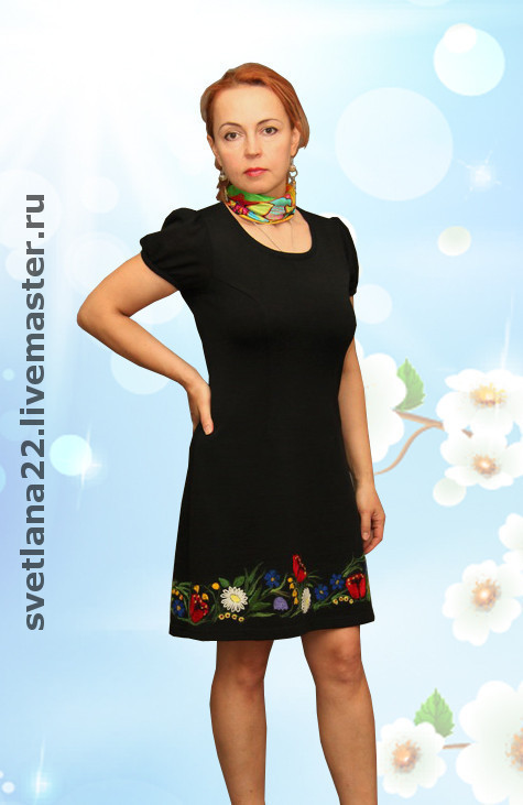 """Dresses handmade. Livemaster - handmade. Buy Knitted dress""""July clearing"""".Knitted dress, floral"""