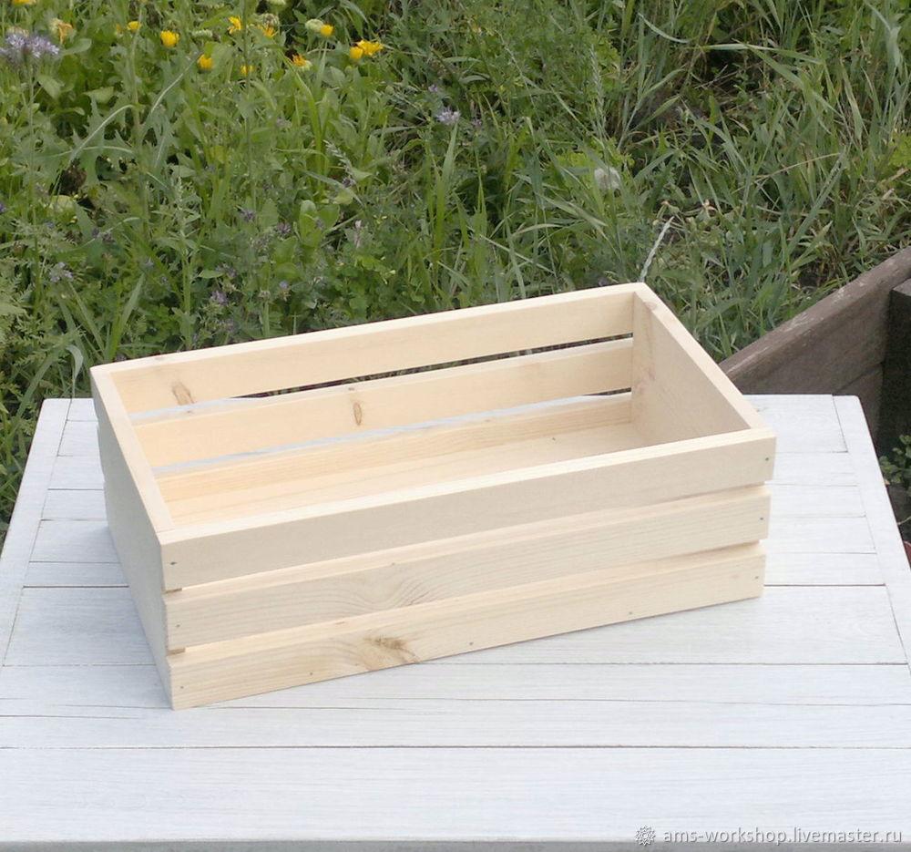 деревянный ящик большой заготовка для декупажа росписи для овощей заказать на ярмарке мастеров G9zxrru корзины воронеж