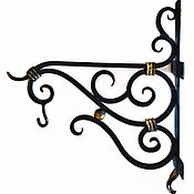 Цветы и флористика handmade. Livemaster - original item Wrought iron bracket for the flowers