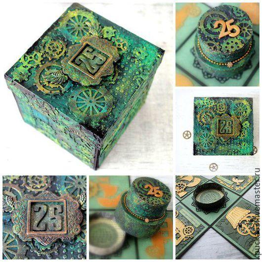 """Персональные подарки ручной работы. Ярмарка Мастеров - ручная работа. Купить Magic Box """"Мужской. Handmade. Зеленый, подарок мужчине"""