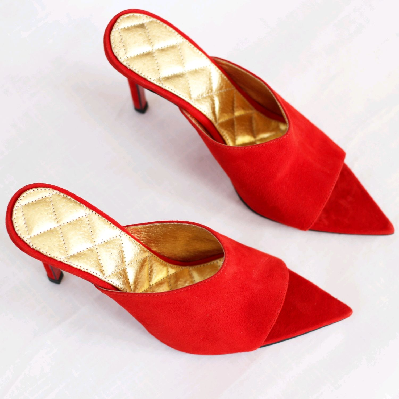 Обувь ручной работы. Ярмарка Мастеров - ручная работа. Купить Мюли. Handmade. Ручная авторская работа, модная обувь, обувь2019